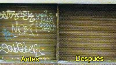 Graffitis metal antes después