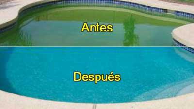 Limpieza piscinas 3 antes después