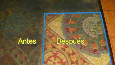 Textiles Alfombras antes después
